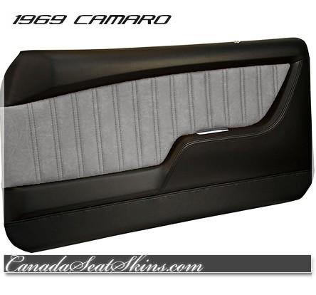 ... 1969 Camaro Tuxedo Black with Grey Custom Door Panels  sc 1 st  Canada Seat Skins & 1969 Camaro TMI Molded Door Panels Sport Series