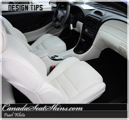 ... 1994   2004 Pearl White Katzkin Leather Interior Design Tip · Ford  Mustang ...