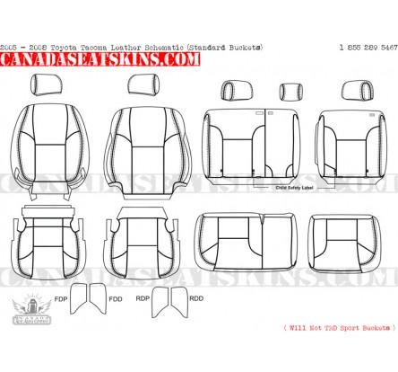 2005 2015 Toyota Tacoma Dealer Pak Leather Upholstery