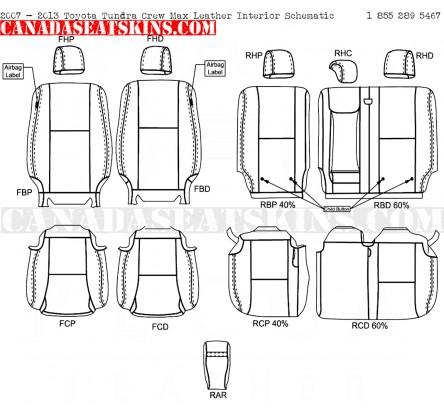2007 2013 Toyota Tundra Dealer Pak Leather Seats Conversion Kit