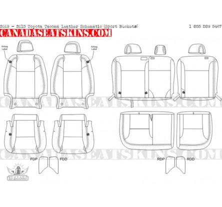 2005 2015 Toyota Tacoma Dealer Pak Leather Seats
