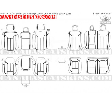 2012 Ford F250 Seat Diagram