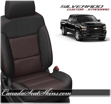 2014 - 2018 Silverado Katzkin Custom Red Barracuda Leather Seats