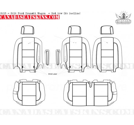 ... 2015 - 2017 Ford Transit Wagon 3rd Row Non Reclining Seat ...  sc 1 st  Canada Seat Skins USA Store & 2015 - 2017 Ford Transit Connect Katzkin Leather Upholstery islam-shia.org