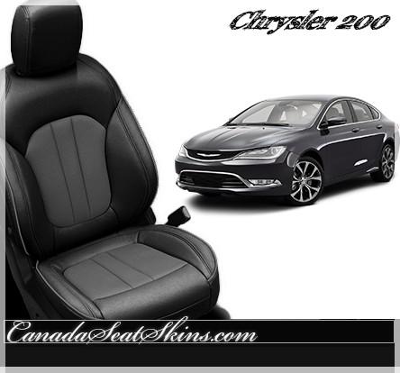 2015 chrysler 200 black. 2015 chrysler 200 katzkin custom black with lt grey leather l