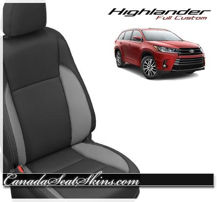 2014 - 2017 Toyota Highlander Katzkin Red Leather Seats