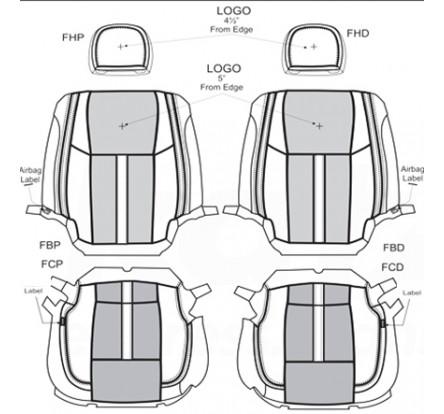 2017 - 2018 Ford F250 F350 Custom Katzkin Leather Upholstery