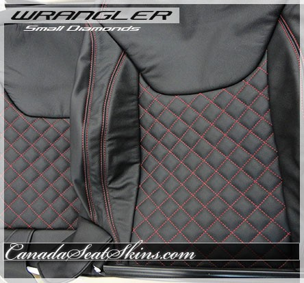 2013 - 2017 Jeep Wrangler Quilted Leather Upholstery : black quilted leather - Adamdwight.com