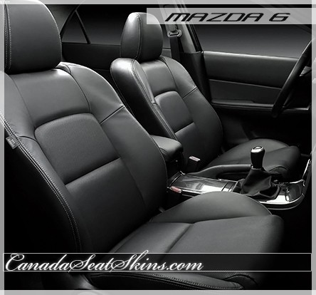 mazda 6 2006 black. 2006 2008 mazda 6 katzkin leather seats black