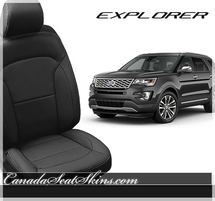 2016 ford explorer black katzkin leather seats