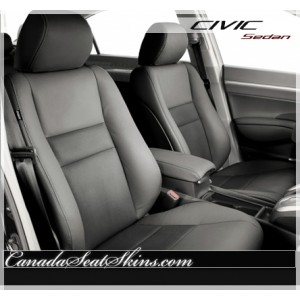 2006 - 2011 Honda Civic Sedan Katzkin Grey Leather Seats