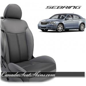 2007 - 2010 Chrysler Sebring Grey Convertible Katzkin Leather Seats