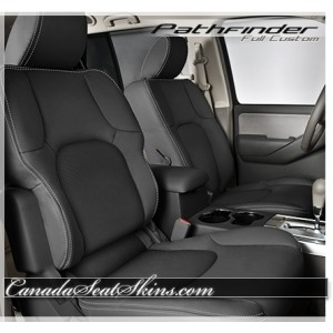 2005 - 2012 Nissan Pathfinder Katzkin Black Leather Seats