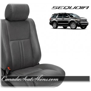 Toyota Sequoia Ice Grey Leather Seats