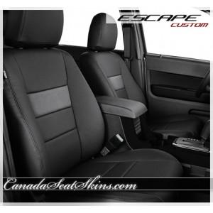 2009 - 2012 Ford Escape Dark Graphite with Fog Katzkin Leather Seats