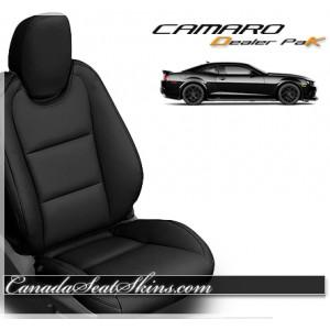2010 - 2015 Chevrolet Camaro Black Leather Seats