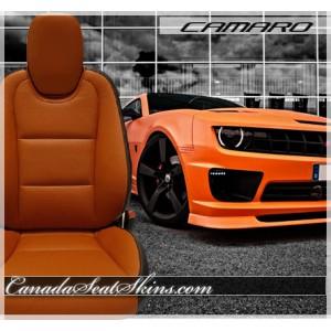 2010 - 2015 Chevrolet Camaro Tangerine Leather Faces