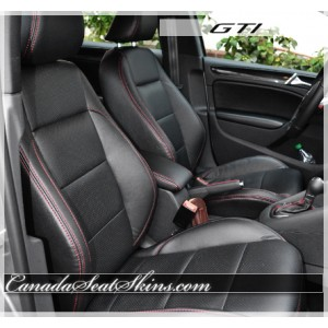 2006 - 2014 Volkswagen GTI Black with Red Leather Seats