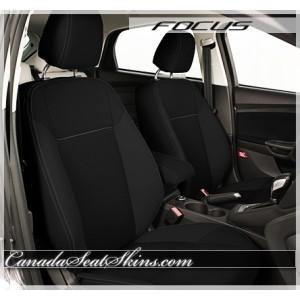 2015 - 2017 Ford Focus Katzkin Black Suede Leather Interior