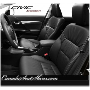2012 - 2015 Honda Civic Sedan Black Leather Interior