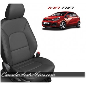 2012 - 2016 Kia Rio Katzkin Black Leather Seats