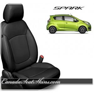 2013 - 2017 Chevrolet Spark Katzkin Black Leather Seats