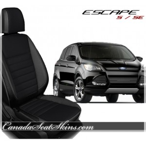 2013 - 2015 Ford Escape Black with Raven Suede Centers