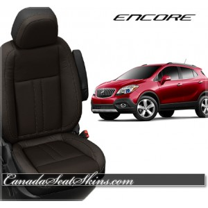2013 - 2015 Buick Encore Black with Java Katzkin Leather Seats