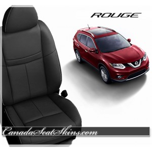 2014 - 2017 Nissan Rogue Black Katzkin Leather Seats