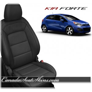 2014 - 2016 Kia Forte Black Katzkin Leather Seats