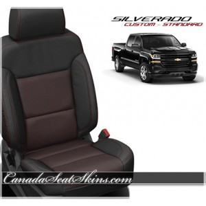 2014 - 2016 Silverado Katzkin Custom Red Barracuda Leather Seats