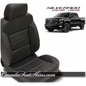 2014 - 2017 Chevrolet Silverado Black Limited Edition Leather Seats