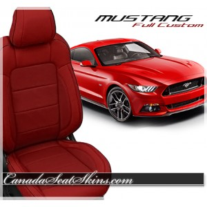 2015 - 2018 Ford Mustang Katzkin Red Leather Seats