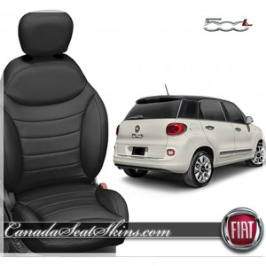 2015 Fiat 500L Black Leather Seats