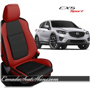 2016 Mazda CX5 Sport Red with BlackKatzkin Leather Seats