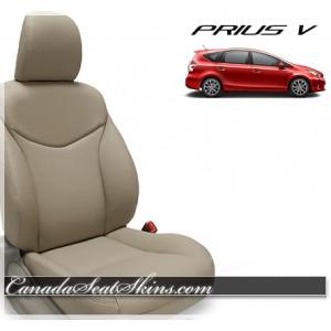 2012 - 2017 Toyota Prius Wagon Katzkin Leather Upholstery