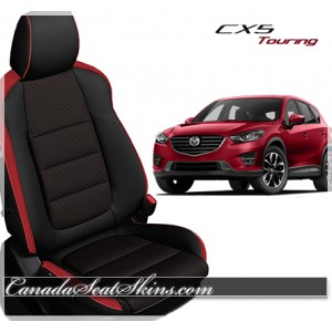 2016 Mazda CX5 Touring Katzkin Black and Red Leather Seats