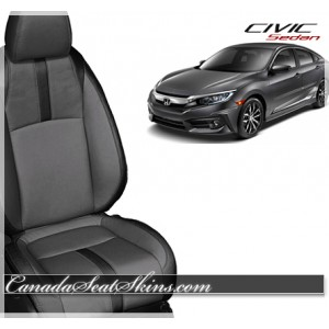 2016 Honda Civic Sedan Katzkin Leather Seats