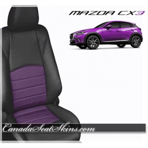 2016 Mazda CX3 Purple Katzkin Leather Seats