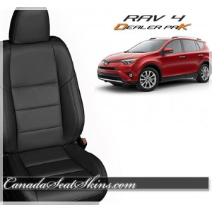2013 - 2016 Toyota Rav 4 Black Leather Seats
