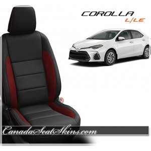 2014 - 2018 Toyota Corolla LE Black and Red Katzkin Leather Seats