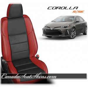 2014 - 2017 Corolla S and SE Red Katzkin Leather Seats