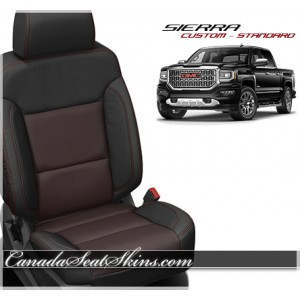2014 - 2018 GMC Sierra Barracuda Red Katzkin Leather Seats