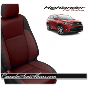 2014 - 2017 Toyota Highlander Katzkin Red Leather Seats