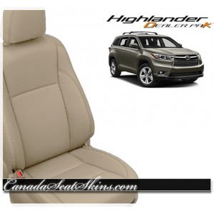 2017 Toyota Highlander Katzkin Leather Vanilla