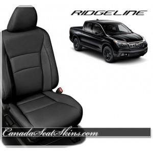 2017 Honda Ridgeline Black Katzkin Leather Seats