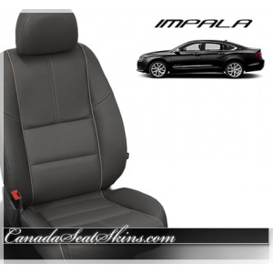 2014 - 2017 Chevrolet Impala Charcoal Katzkin Leather Seats