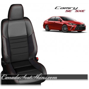 2015 - 2017 Camry SE XSE Katzkin Black Suede Leather Seats
