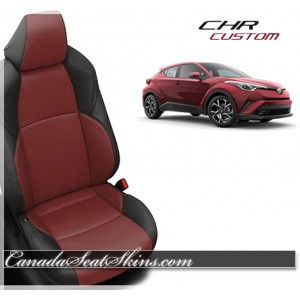 2018 Toyota CH-R Katzkin Black with Medium Red Leather Seats