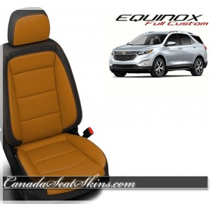 2018 Chevrolet Equinox Katzkin Orange Leather Seats